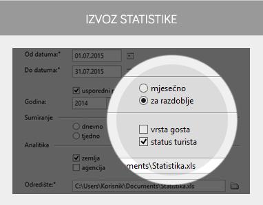miniREC - izvoz statistike