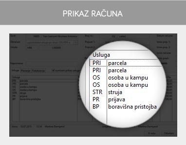 miniREC - Prikaz racuna