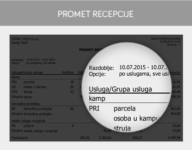 miniREC - Promet recepcije