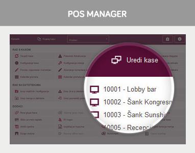 POS manager - Pocetni ekran
