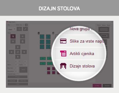 POS manager - Dizajn stolova
